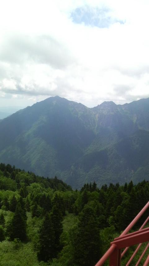高山に一泊